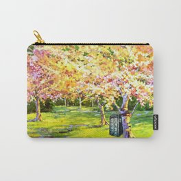 Tardis In The Season Blossom Carry-All Pouch