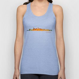 Vancouver Canada City Skyline Hq v01 Unisex Tank Top