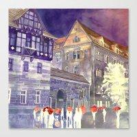 takmaj Canvas Prints featuring street in Poznan part 1 by takmaj