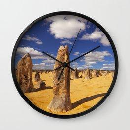 The Pinnacles Desert in Nambung National Park, Western Australia Wall Clock