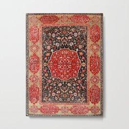 Salting Safavid 16th Century Persian Carpet Metal Print