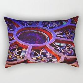 Flower Glass Rectangular Pillow