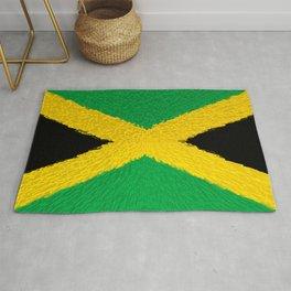 Extruded flag of Jamaica Rug