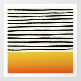 Sunset x Stripes Art Print