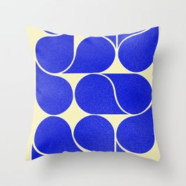 Blue mid-century shapes no8 Throw Pillow
