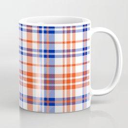 Florida University silhouette orange and blue pattern sports football college gators gator fan plaid Coffee Mug