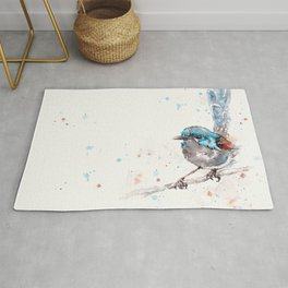 Mischief In The Making (Variegated Fairy Wren) Rug