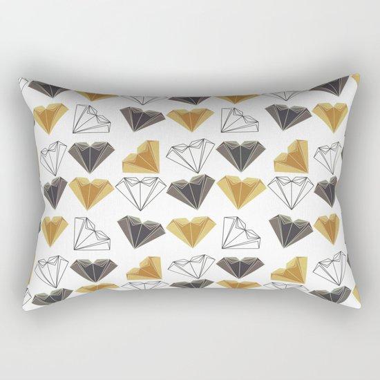 A heart is made of ... paper, scissors, rock  Rectangular Pillow