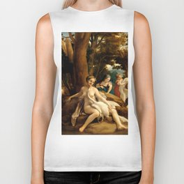 "Antonio Allegri da Correggio ""Leda and the Swan"" Biker Tank"