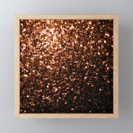 Beautiful Bronze Orange Brown glitters sparkles Framed Mini Art Print