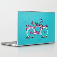 brompton Laptop & iPad Skins featuring Butterfly Bicycle by Wyatt Design