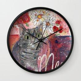 Meow Kitty Wall Clock