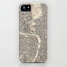 Vintage Map of London England (1899) 2 iPhone Case