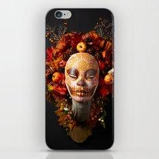 Pumpkin Harvest Muertita iPhone & iPod Skin