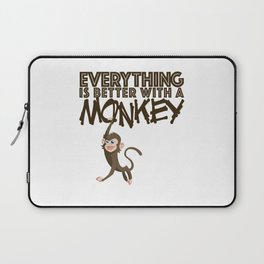 Everything is Better With a Monkey Laptop Sleeve