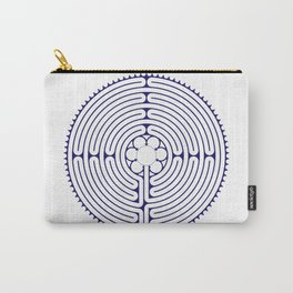 Cathedral of Our Lady of Chartres Labyrinth - Blue Carry-All Pouch
