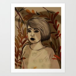 In the autumn forest Art Print