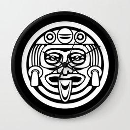 Mayan Face (White) Wall Clock