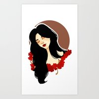 belle Art Prints featuring belle by chazstity