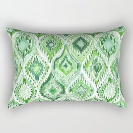 FROM WITHIN Green Moroccan Ogee Rectangular Pillow