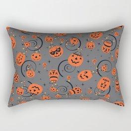 Halloween Magic- Grey Rectangular Pillow