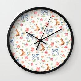 Fox & Hound Wall Clock