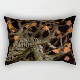 The Autumn Tree Dragon Rectangular Pillow
