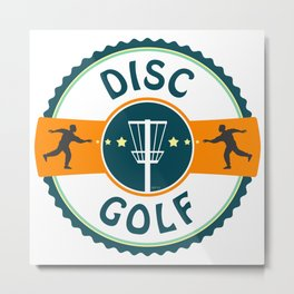 Disc Golf Metal Print