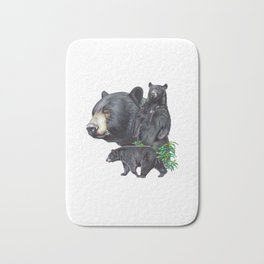 Black Bears Bath Mat