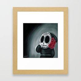 Dia de Los Muertos Shy Guy Framed Art Print