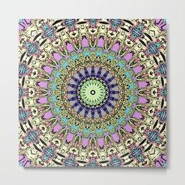 Ornate Kaleidoscope Symmetry Metal Print