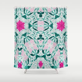Vintage Pink Duo Shower Curtain