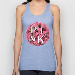 Pink Floral Bouquet Unisex Tank Top