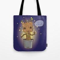 groot Tote Bags featuring Groot by Lalu