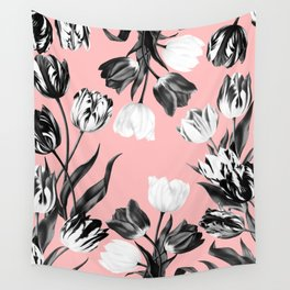 Bed Of Tulips Wall Tapestry