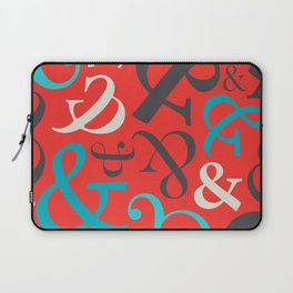 Amped Up Red Ampersand Pattern Laptop Sleeve