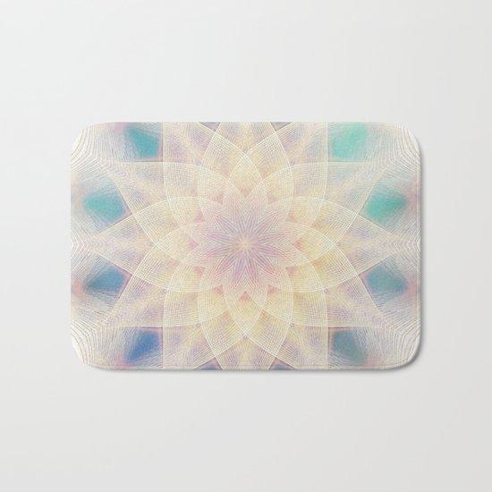 Water Lily Mandala Bath Mat