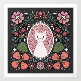 Kitten Cameo  Art Print