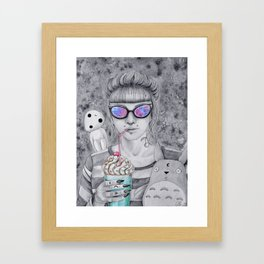 Milkshake time Framed Art Print