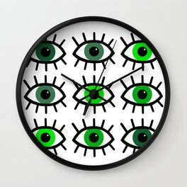 Open Your Eyes - Greens Wall Clock