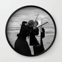 mirror Wall Clocks featuring Mirror by Bird Heart