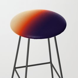 Infrared Orange & Ultraviolet Purple Sunrise Bar Stool