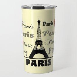 Paris text design illustration 2 Travel Mug