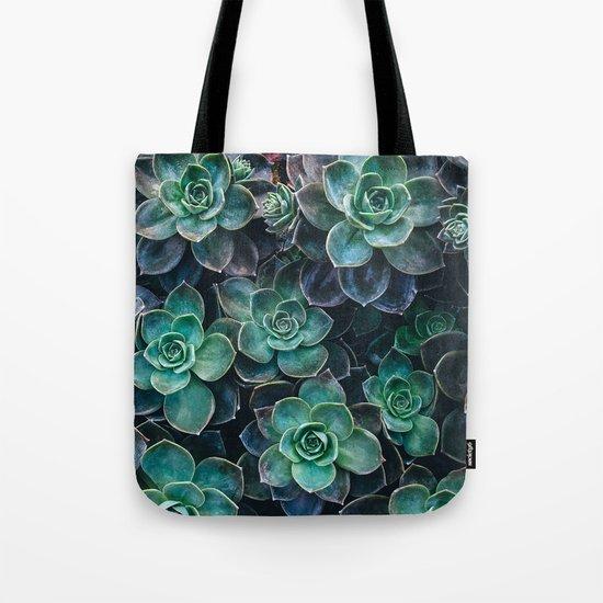 Succulent Blue Green Plants Tote Bag