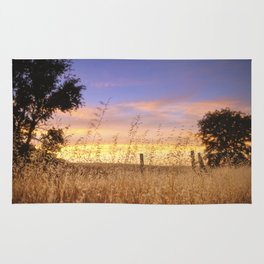 Evening Glow a country sunset Rug