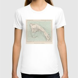 Vintage Map of Provincetown MA (1892) T-shirt