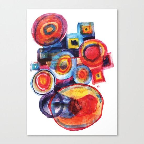 Color composition Canvas Print