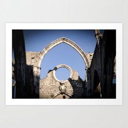 Carmo Ruins Surviving Arch Art Print