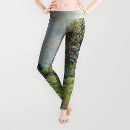 """Claude Monet """"Coup De Vent"""" Leggings"""