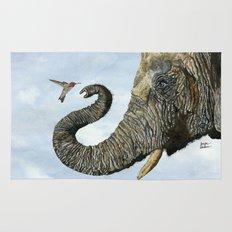 Elephant Cyril And Hummingbird Ayre Rug